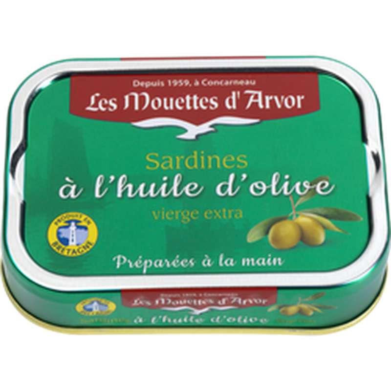 Sardines à l'huile d'olive extra vierge, Les Mouettes d'Arvor (115 g)