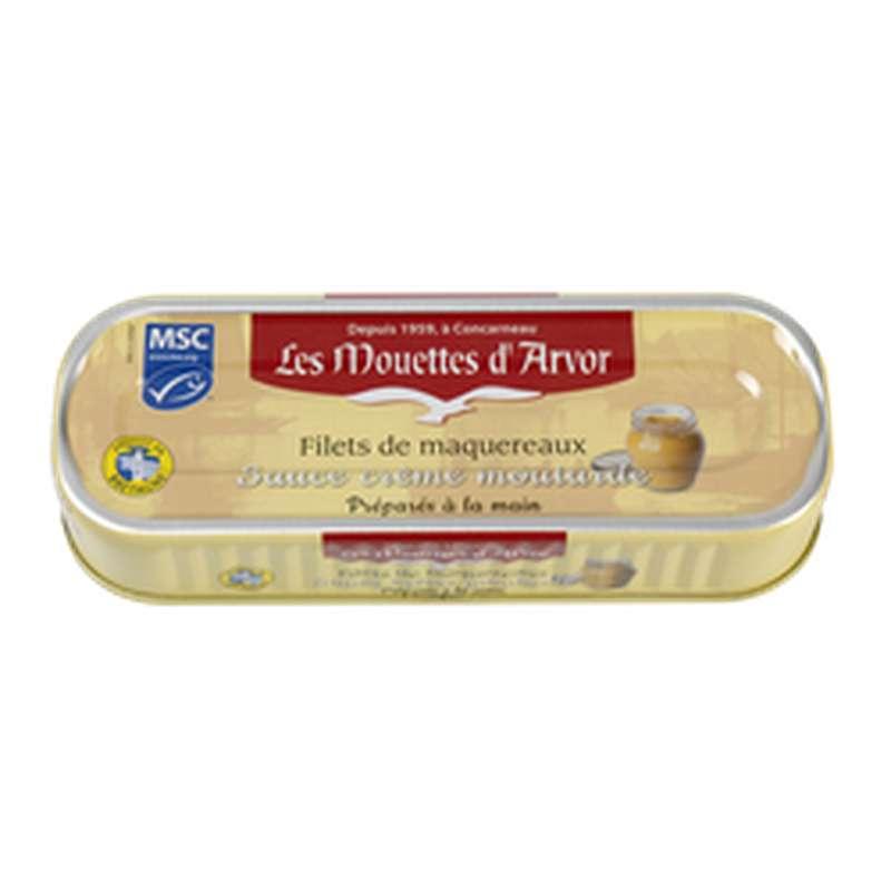 Filets de maquereaux sauce crème moutarde, Les Mouettes d'Arvor (169 g)