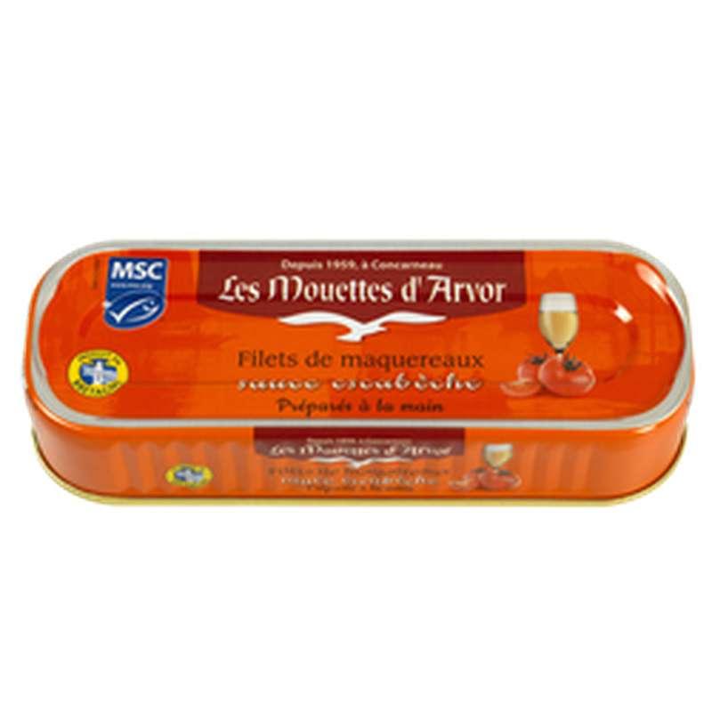Filets de maquereaux à l'escabèche, Les Mouettes d'Arvor (169 g)