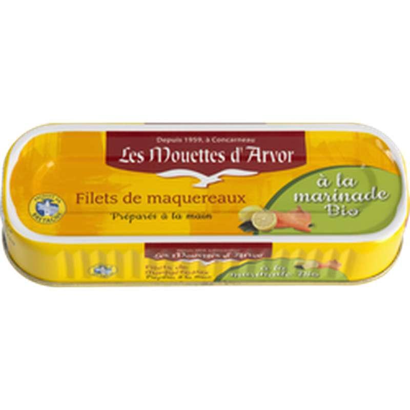 Filets de maquereaux à la marinade BIO, Les Mouettes d'Arvor (176 g)