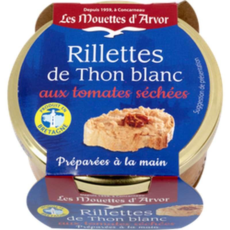 Rillettes de thon blanc aux tomates séchées, Les Mouettes d'Arvor (125 g)