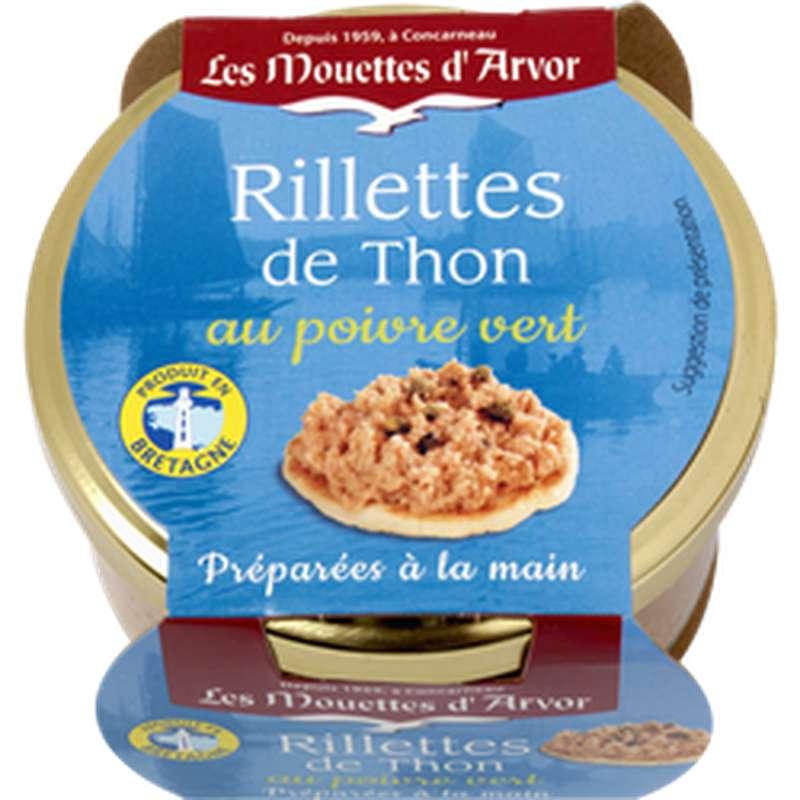 Rillettes de thon au poivre vert, Les Mouettes d'Arvor (125 g)