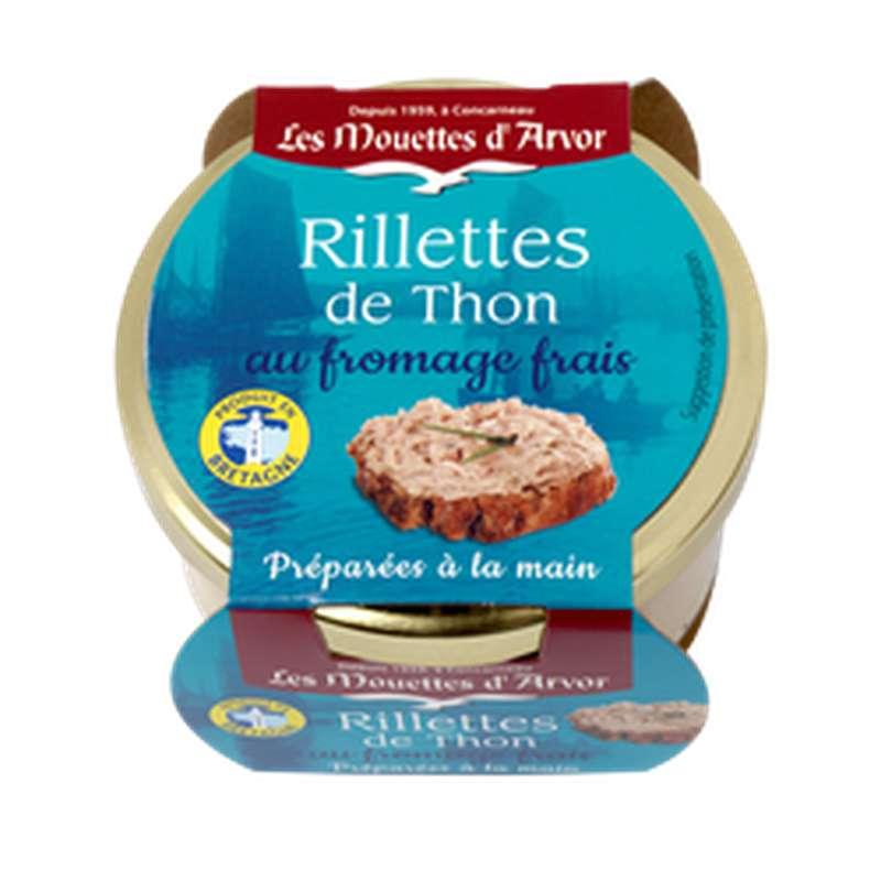 Rillettes de thon au fromage frais, Les Mouettes d'Arvor (125 g)