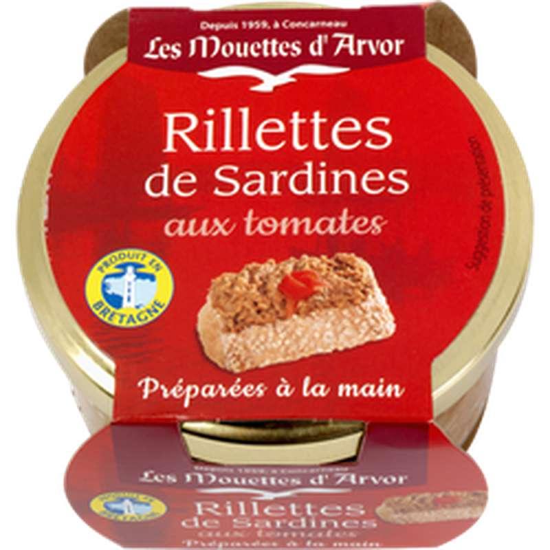 Rillettes de sardines à la tomate, Les Mouettes d'Arvor (125 g)