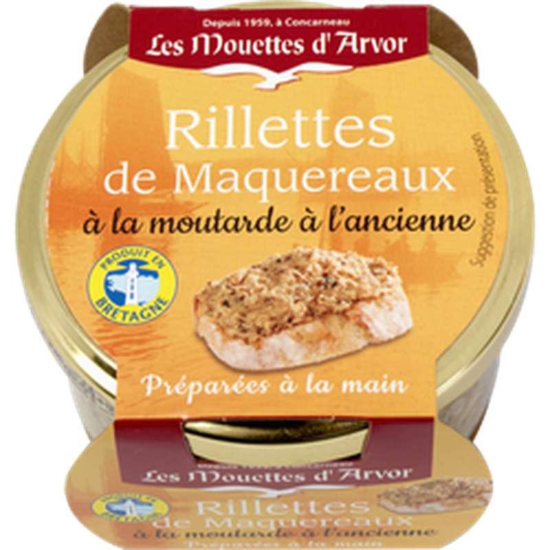 Rillettes de maquereaux moutarde à l'ancienne, Les Mouettes d'Arvor (125 g)