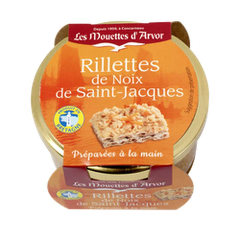 Rillettes de noix de Saint Jacques, Les Mouettes d'Arvor (125 g)