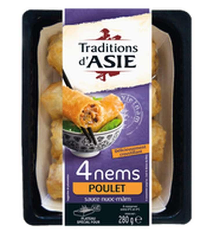 Nems au poulet au curry avec sauce, Traditions d'Asie (x 4, 280 g)