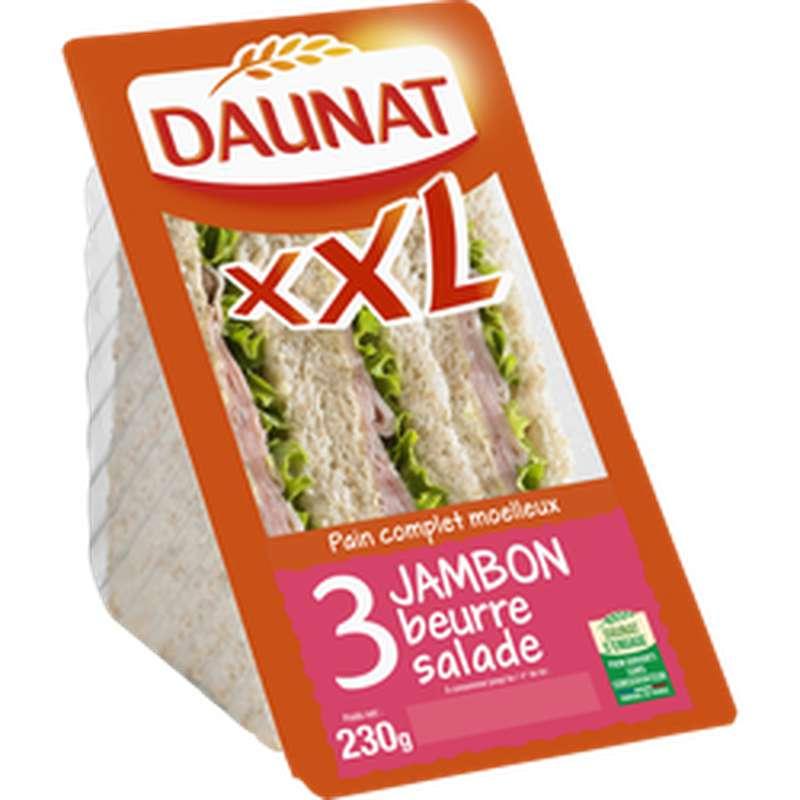 Sandwich triangle XXL jambon beurre, Daunat (230 g)