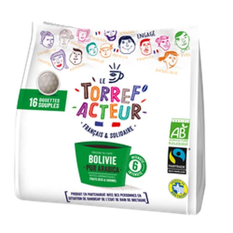 Café capsule compatible Senseo origine Bolivie BIO, Le Torref'acteur (x 16 dosettes, 112 g)
