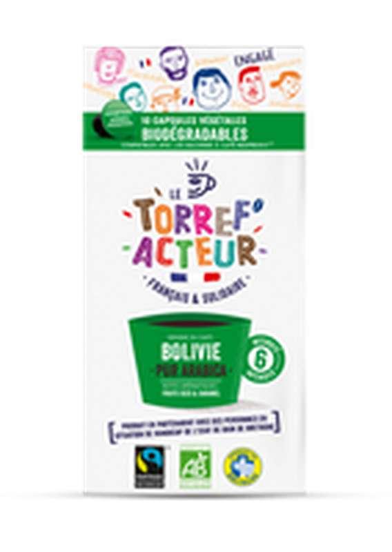 Café capsule Bolivie compatibles Nespresso BIO, Le Torref'acteur (x 10, 50 g)