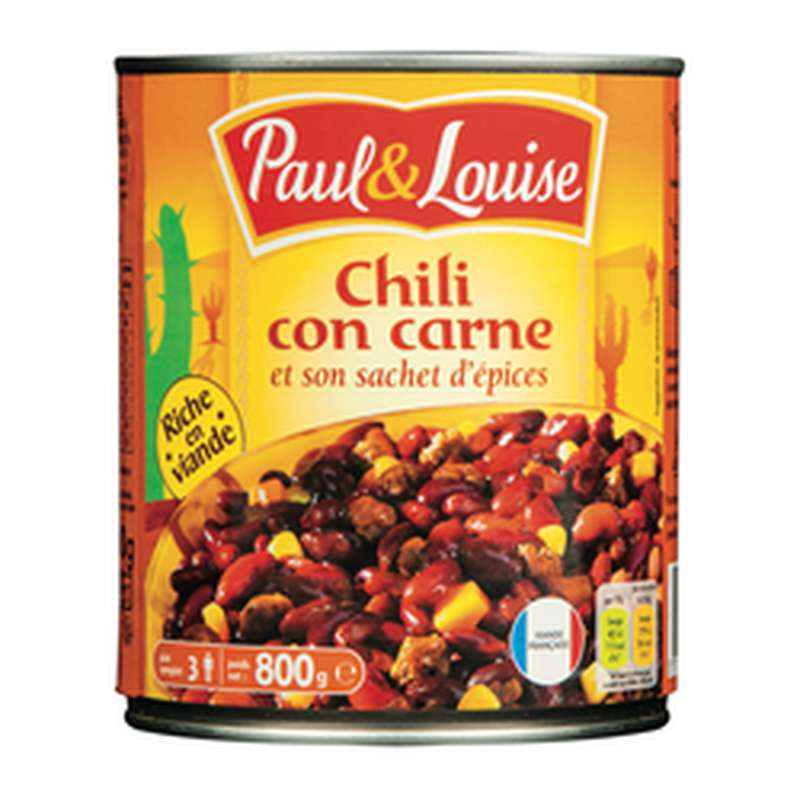 Chili corn carne, Paul et Louise (800 g)