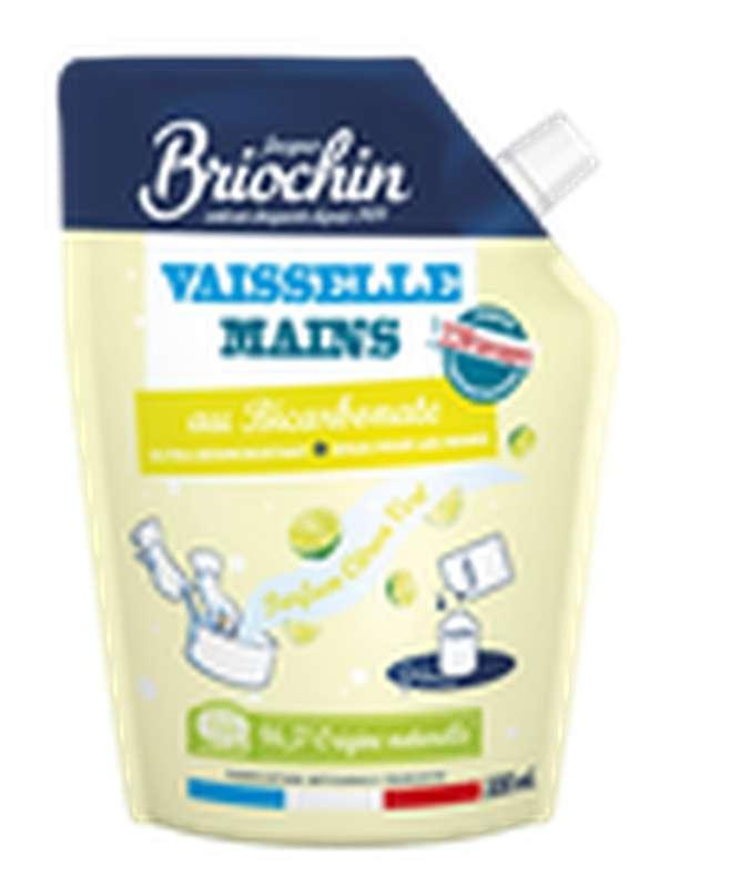 Liquide vaisselle et mains Ecocert au bicarbonate et citron vert recharge, Briochin (500 ml)