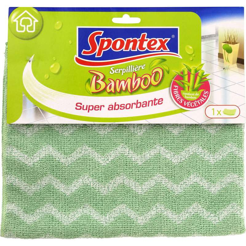 Serpillière bamboo super absorbante, Spontex