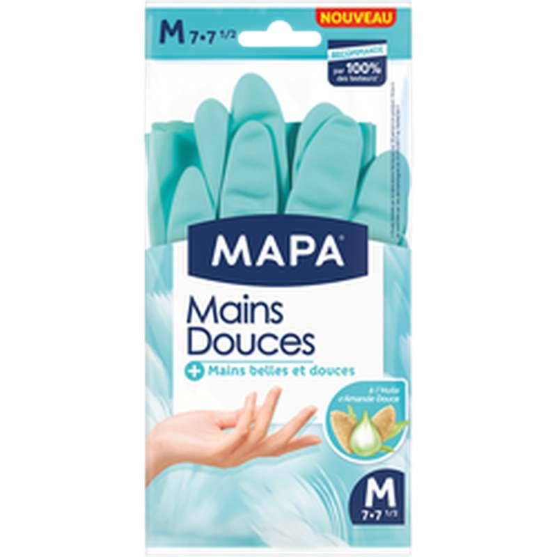 Gants ménagers Mains Douces en latex naturel, Mapa (taille M)