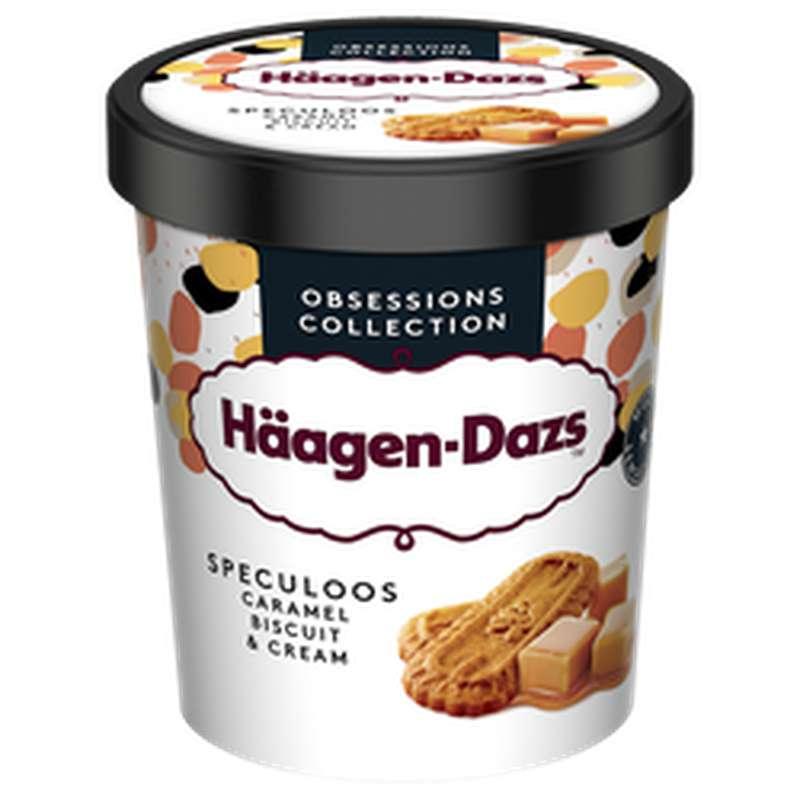 Crème glacée caramel, biscuit, cream et spéculos, Häagen Dazs (400 g)