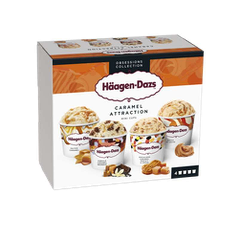 Mini pots Caramel Attraction, Häagen Dazs (321 g)