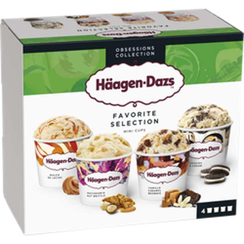 Mini pots de crème glacée Favorite Selection, Häagen Dazs (318 g)