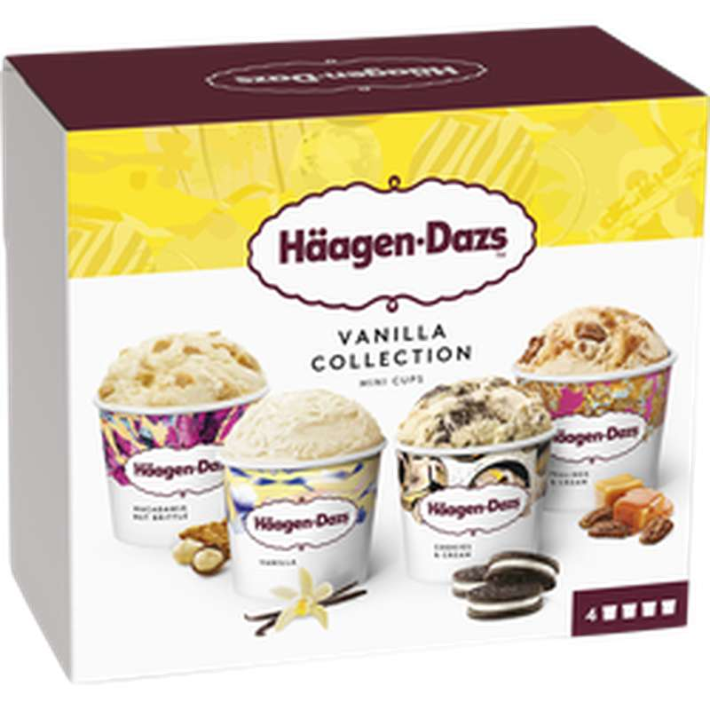 Mini pots Vanilla Collection, Haagen Dazs (321 g)