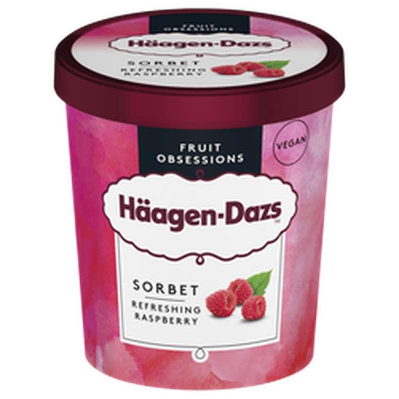 Pot Raspberry Sorbet, Häagen Dazs (408 g)