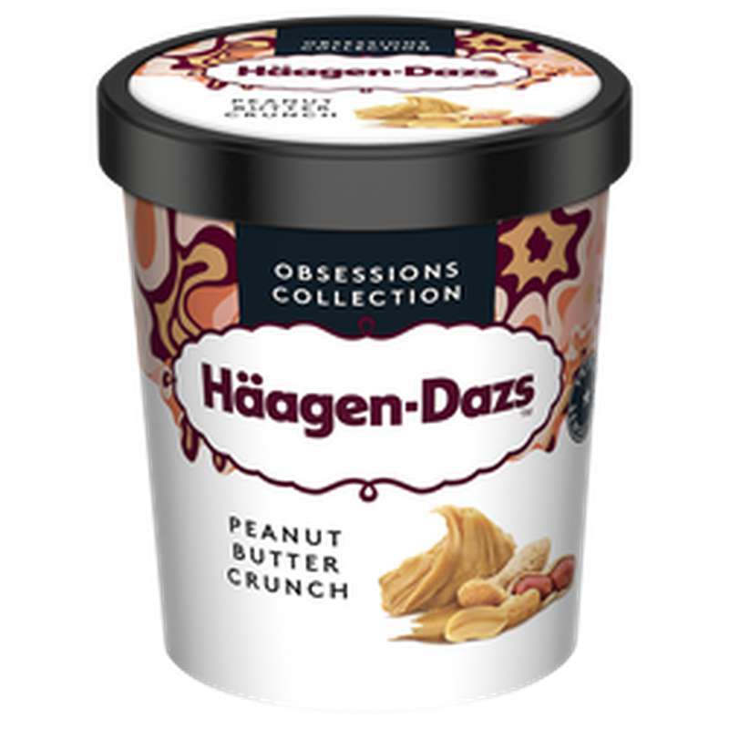 Crème glacée Peanut Butter Crunch, Häagen Dazs (400 g)