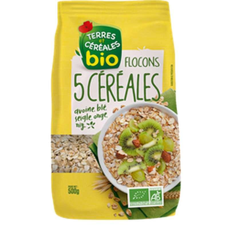 Flocons 5 céréales BIO, Terres & Céréales (500 g)