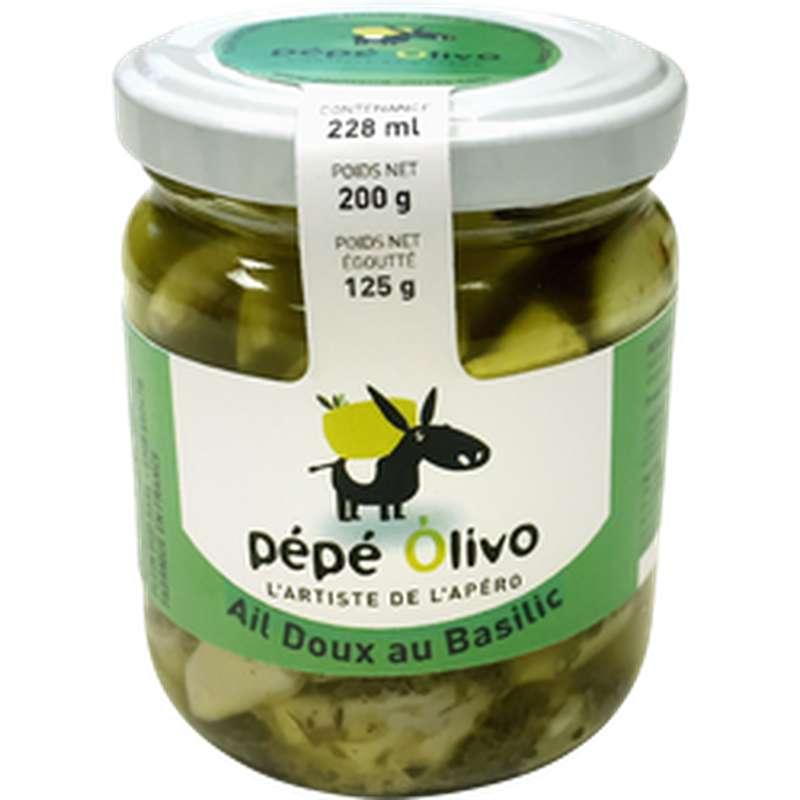 Ail doux au basilic, Pepe Olivo (125 g)
