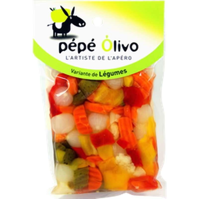 Variante de légumes croquants apéritifs, Pepe Olivo (200 g)