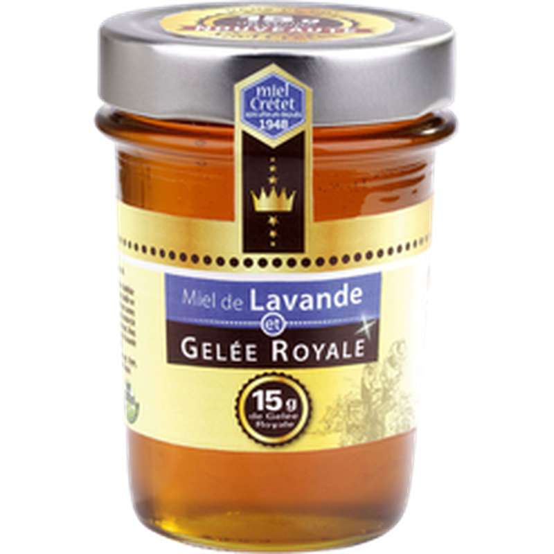 Miel de lavande maritime et gelée royale, Miel Cretet (250 g)