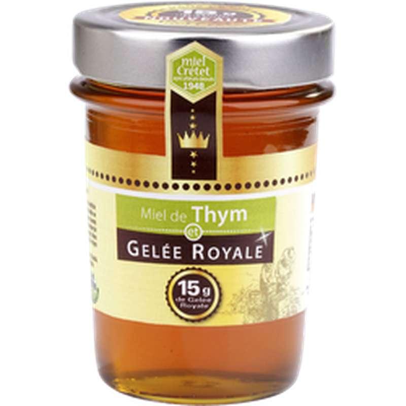Miel de thym et gelée royale, Miel Cretet (250 g)