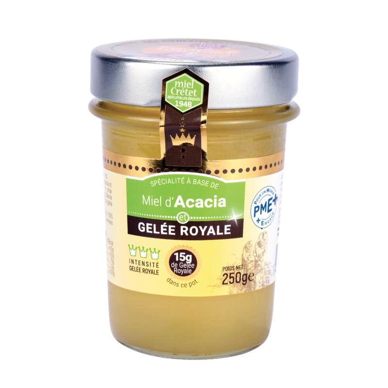 Miel d'acacia et gelée royale, Miel Cretet (250 g)