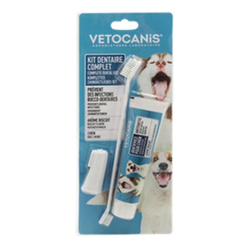 Kit hygiène dentaire pour chien, Vetocanis (x 1)