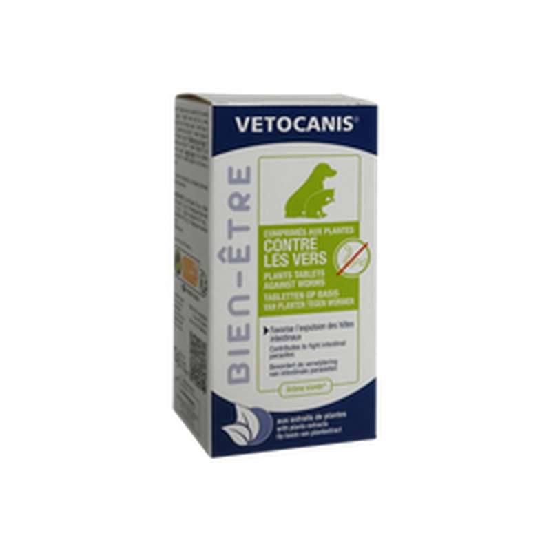 Comprimés bien être anti-vers pour chien et chat, Vetocanis (x 30)