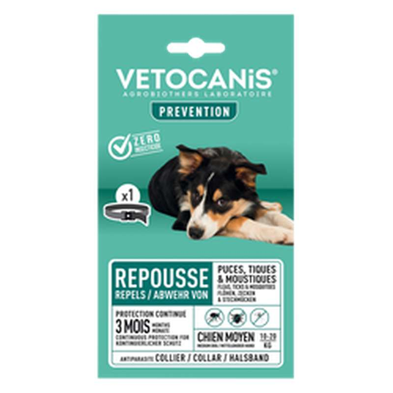 Collier insectifuge pour chien moyen, Vetocanis (x 1)