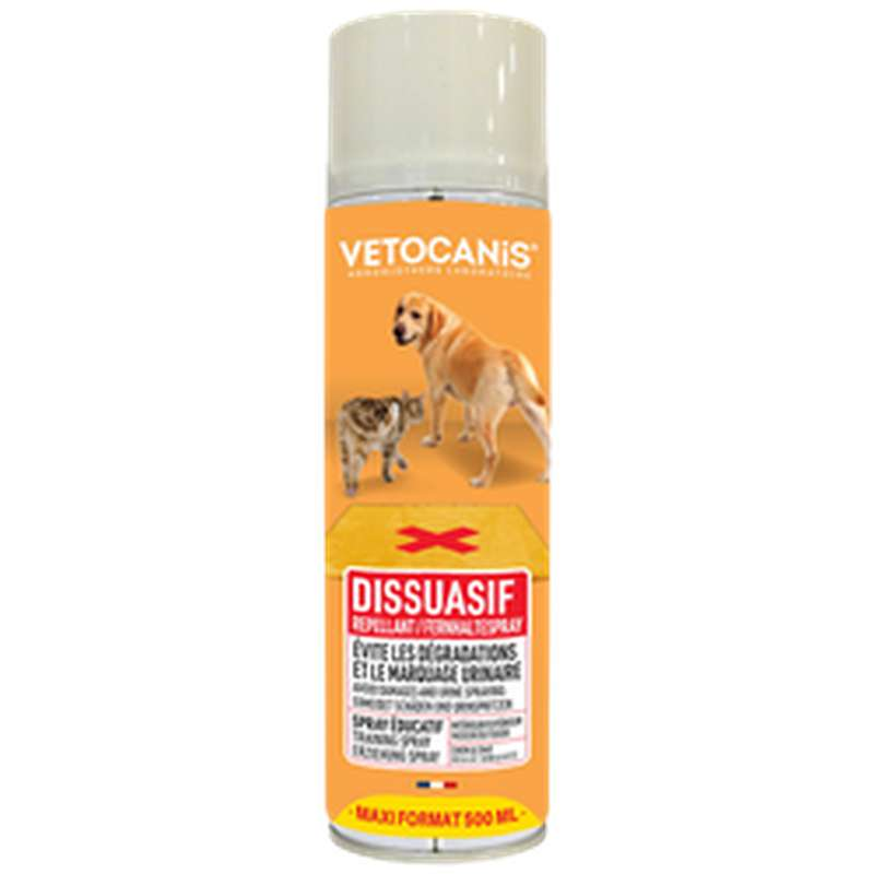 Spray éducatif pour chien et chat, Vetocanis (500 ml)