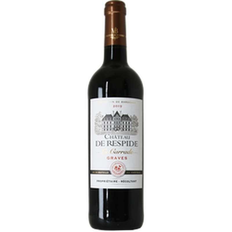Vin rouge AOP Graves Château de Respide la Carrade 2019 (75 cl)