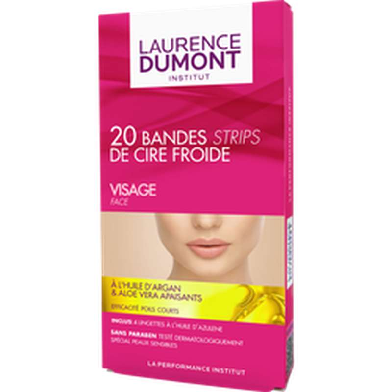 Bandes de cire froide visage, Laurence Dumont (x 20)