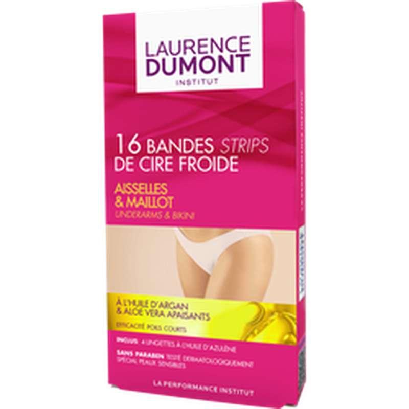 Bandes de cire froide aisselles et maillot, Laurence Dumont (x 16)