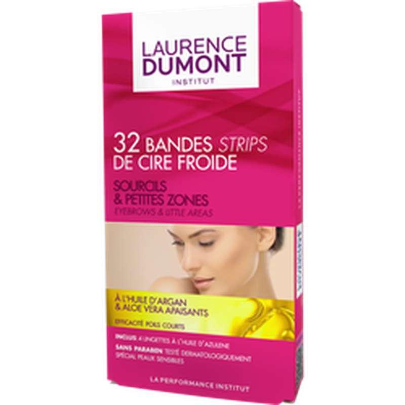 Bande de cire froide sourcils, Laurence Dumont (x 32)
