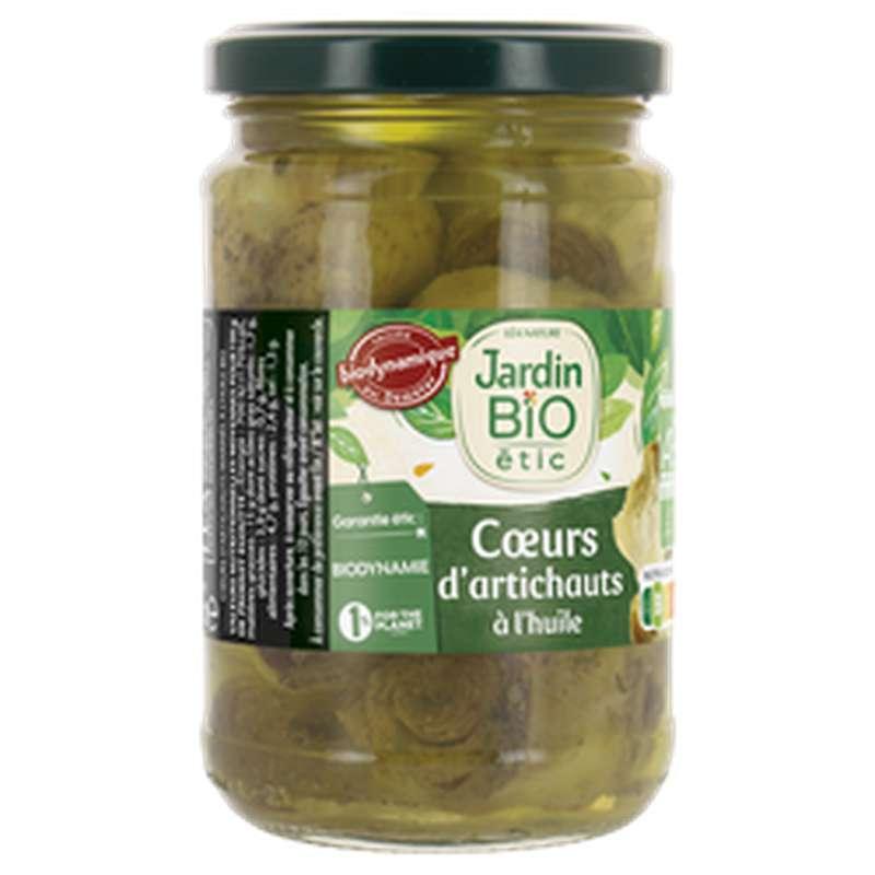 Coeurs d'artichauts marinés à l'huile d'olive BIO, Jardin Bio étic (280 g)