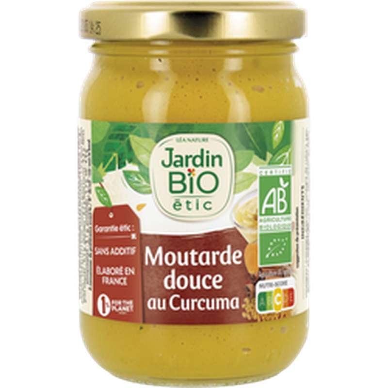Moutarde douce au curcuma BIO, Jardin Bio étic (210 g)