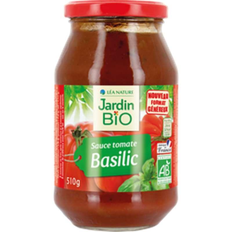 Sauce tomate basilic BIO, Jardin Bio (510 g)