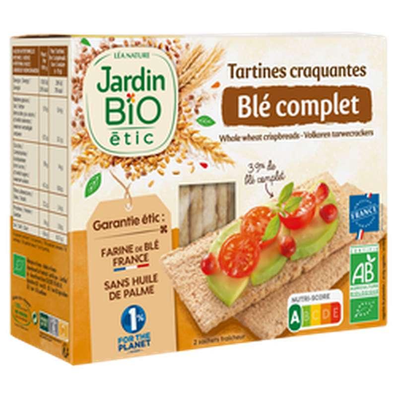 Tartines craquantes au blé complet BIO, Jardin Bio étic (150 g)