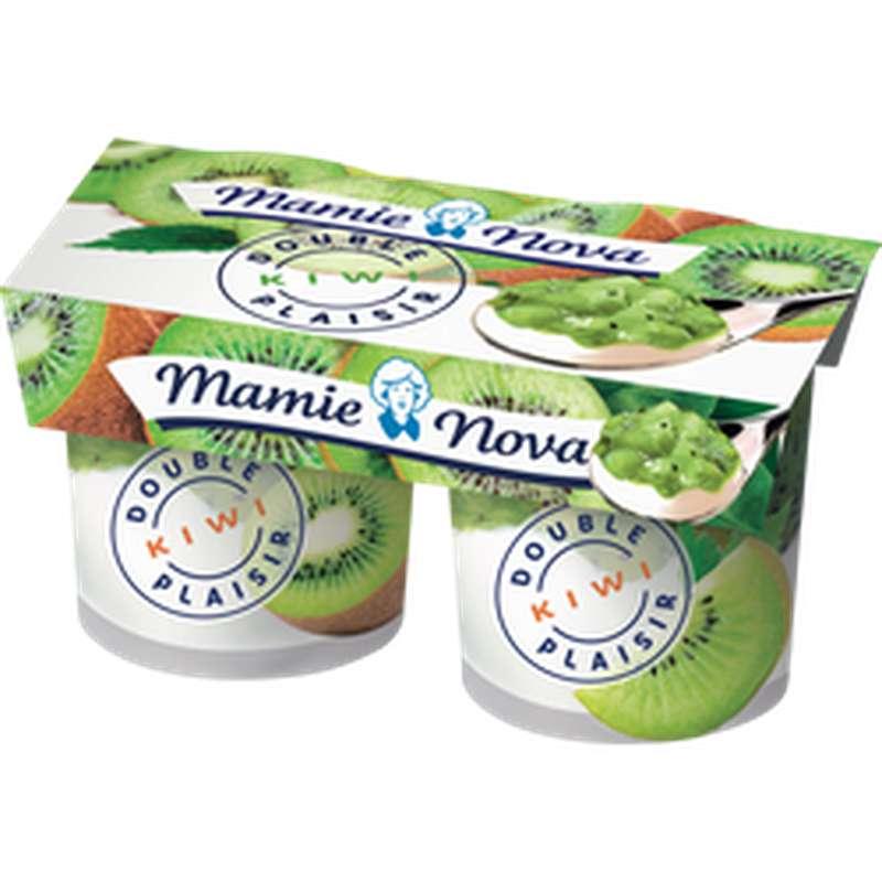 Yaourt Double Plaisir au Kiwi, Mamie Nova (2 x 140 g)