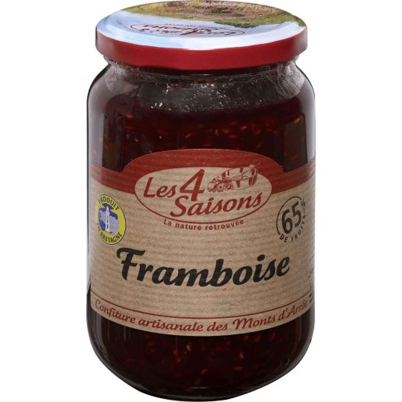 Confiture framboise 65% de fruits, Les 4 saisons (400 g)