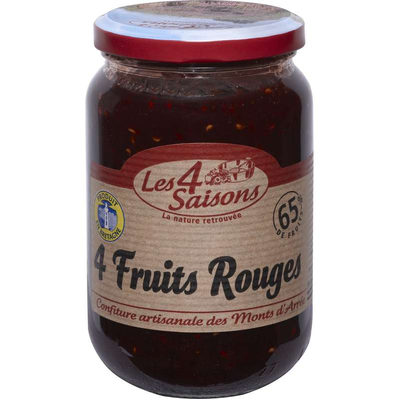 Confiture 4 fruits rouges, Les 4 saisons (400 g)