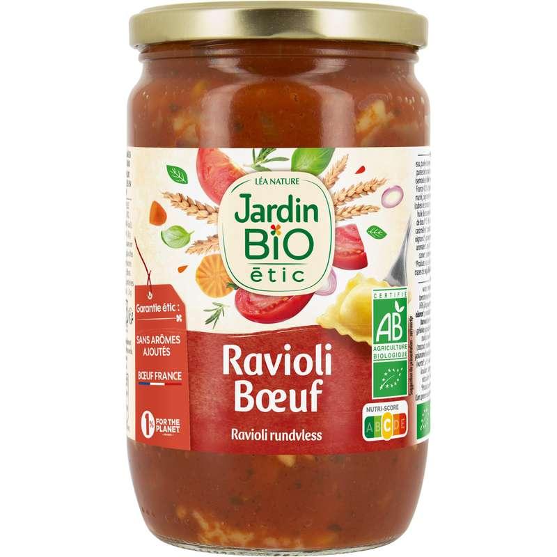 Plat cuisiné ravioli bœuf BIO, Jardin Bio (700 g)