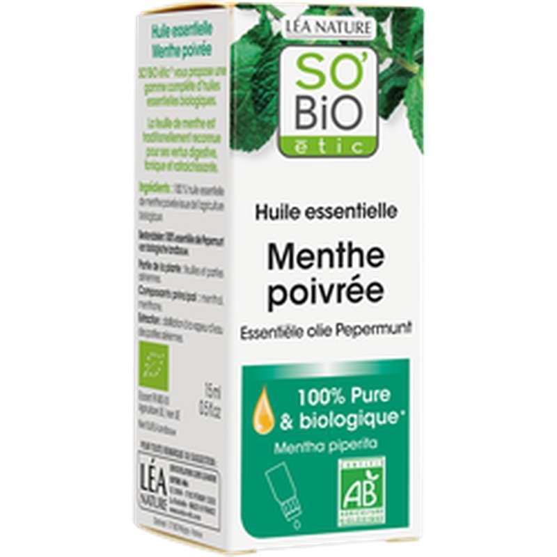 Huile essentielle de Menthe Poivrée BIO, So'Bio Etic 10 ml)