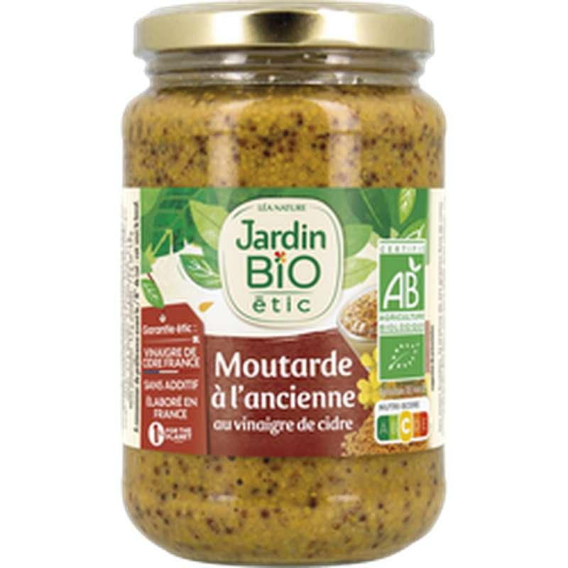 Moutarde à l'ancienne au vinaigre de cidre BIO, Jardin Bio étic (350 g)