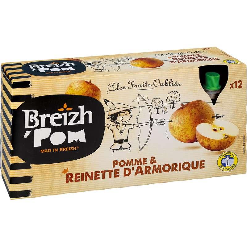Compotes en gourdes pomme Reinette d'Armorique, Breizh'pom (12 x 90 g)
