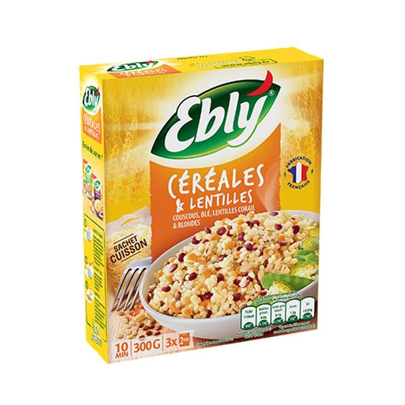 Mélange céréales blé et lentilles, Ebly (300 g)